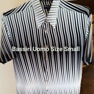Bassiri Uomo Mens Short Sleeve Dress Shirt